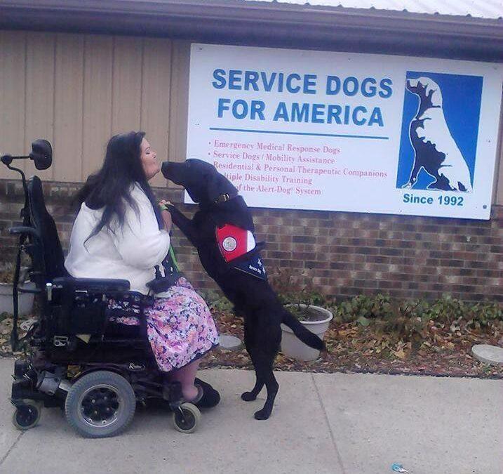 Caldwell Service Dog Healing from TPLO Surgery and Up for Nat'l Hero Dog Award
